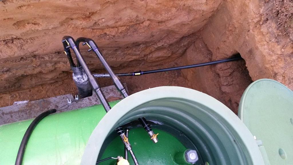 конденсатосборник и газопровод