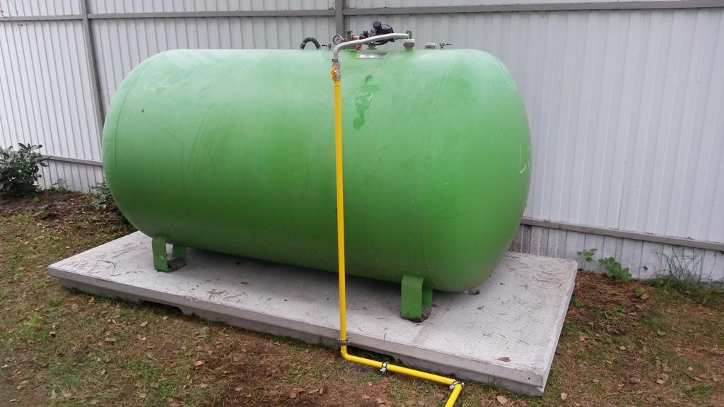 Наземная установка газгольдера.