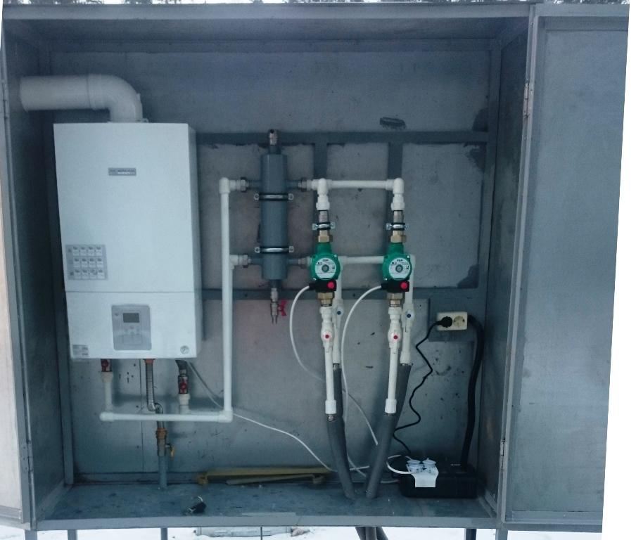 шкаф испарительной установки с котлом нагрева теплоносителя
