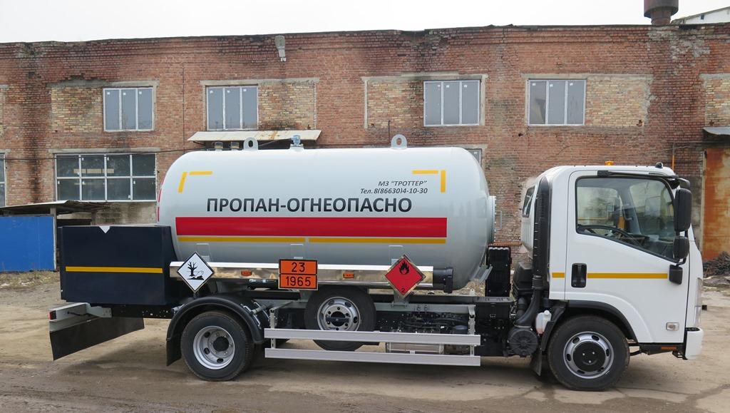 газовоз для заправки газгольдера