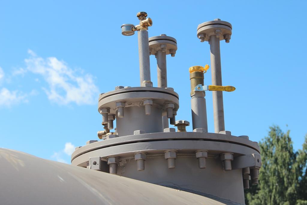 Газгольдер с внутренним испарителем на 15 000 литров